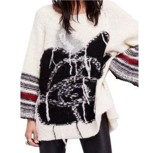 Free People Last Rose White Alpaca Sweater M L